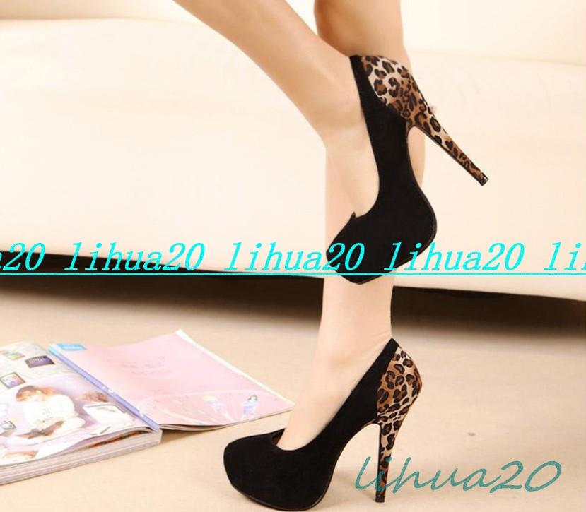 Vogue Leopard Black Sexy Women's Party Pumps Stiletto Platform High Heel Shoes | eBay