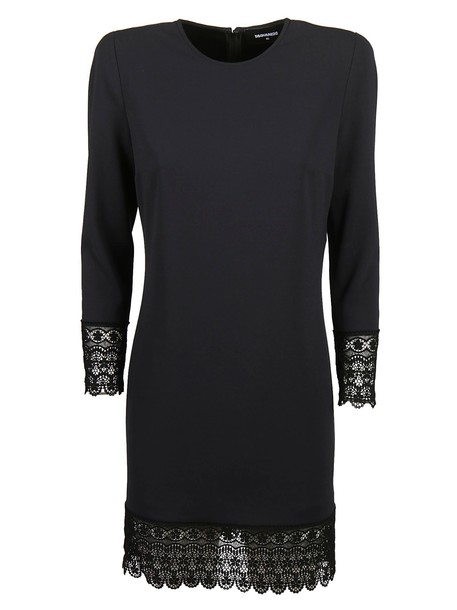 dress scalloped lace black
