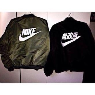 jacket nike green jacket coat style fashion