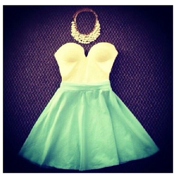 dress teal dress white