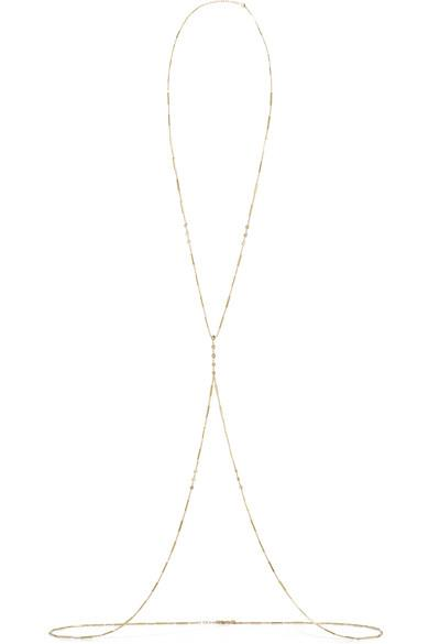 Jacquie Aiche - 14-karat Gold Diamond Body Chain - 14-karat Gold Diamond Body Chain