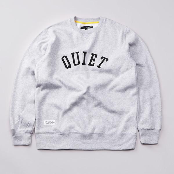 Flatspot - The Quiet Life Quiet Applique Sweatshirt Heather Grey / Black