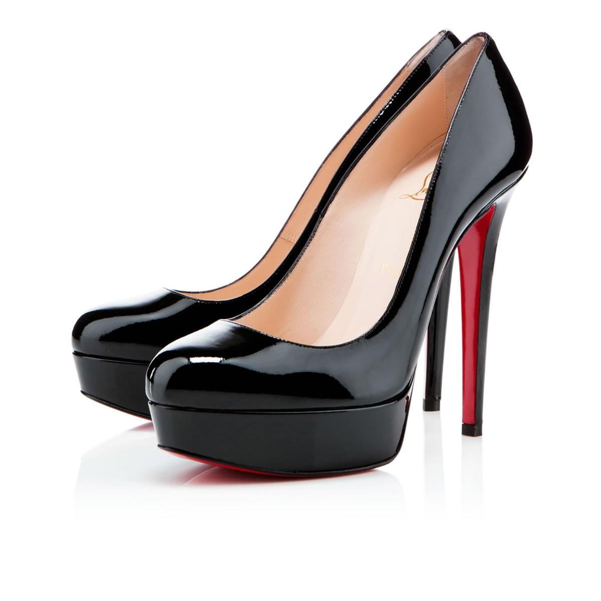 Bianca vernis noir vernis louboutin souliers pour femme - Vernis pour table ...