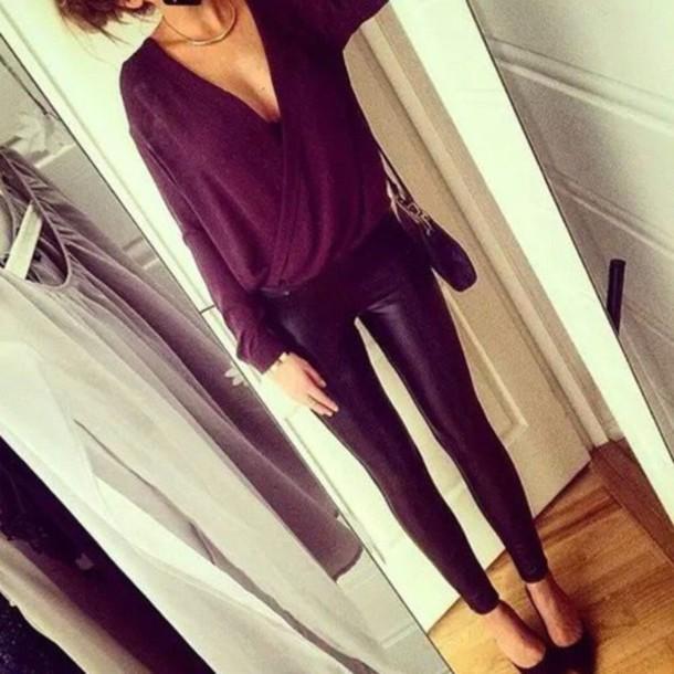 blouse plum