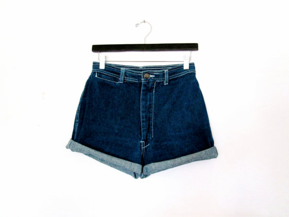 80's High Rise denim cut offs size  M by NightAfterNight on Etsy