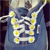 shoes,flowers,vans,sunflower,denim,white,yellow,bag,vintage