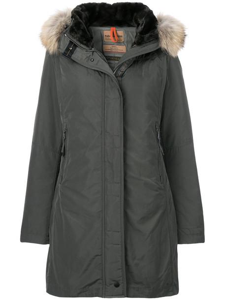 coat parka short women dog grey