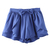 ROMWE | ROMWE Asymmetric Bowknot Layered Flouncing Blue Shorts, The Latest Street Fashion