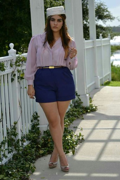 shorts blue shorts fashion plus size plus size fashion curvy girl