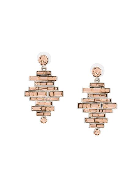 oscar de la renta women earrings pendant nude jewels