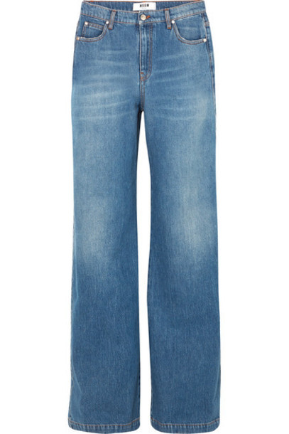 MSGM - High-rise Wide-leg Jeans - Blue