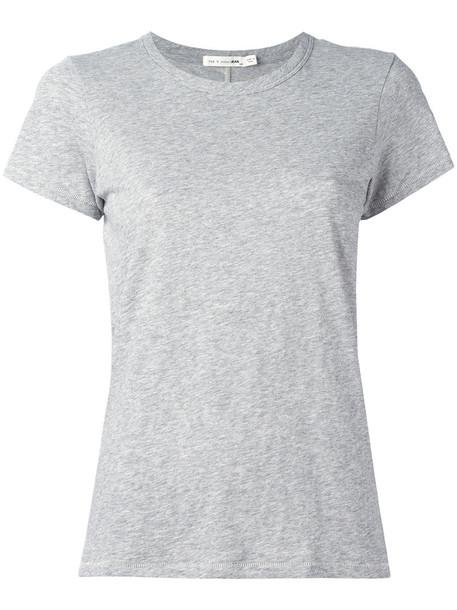 Rag & Bone - The T-shirt - women - Cotton - L, Grey, Cotton