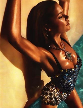 swimwear bikini bling rhinestones embellished one piece swimsuit