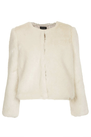 Topshop Lux Fur Shrug - Celebrities who wear, use, or own Topshop Lux Fur Shrug / Coolspotters
