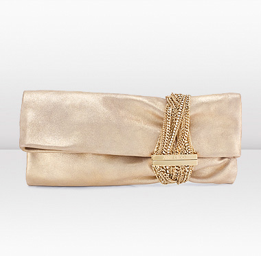 fe63822b0bd Jimmy Choo | Chandra | Gold Metallic Leather In Hand Clutch | JIMMYCHOO.COM