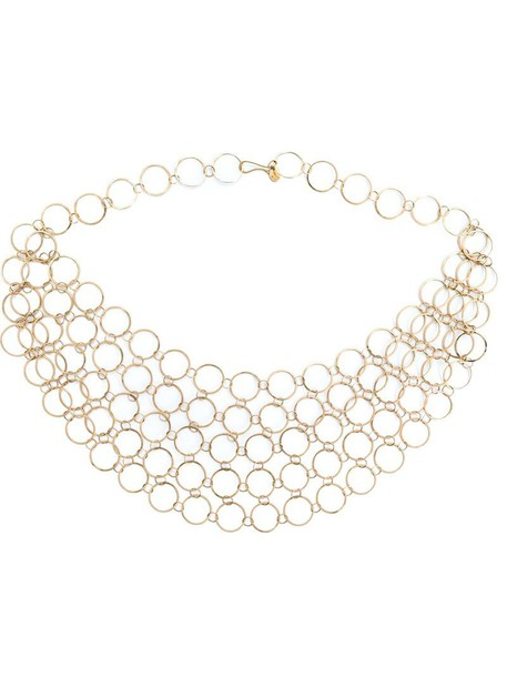 collar necklace women necklace gold grey metallic jewels