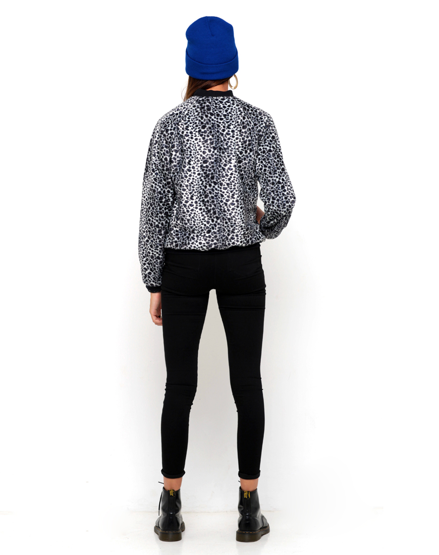 Buy Motel Fur Bomber Jacket in Leopard at Motel Rocks