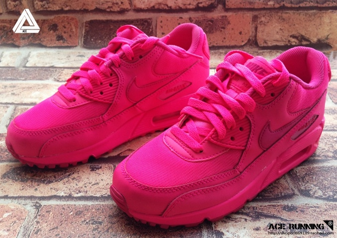 Nike air max 90 womens shoes hot sell all pink new