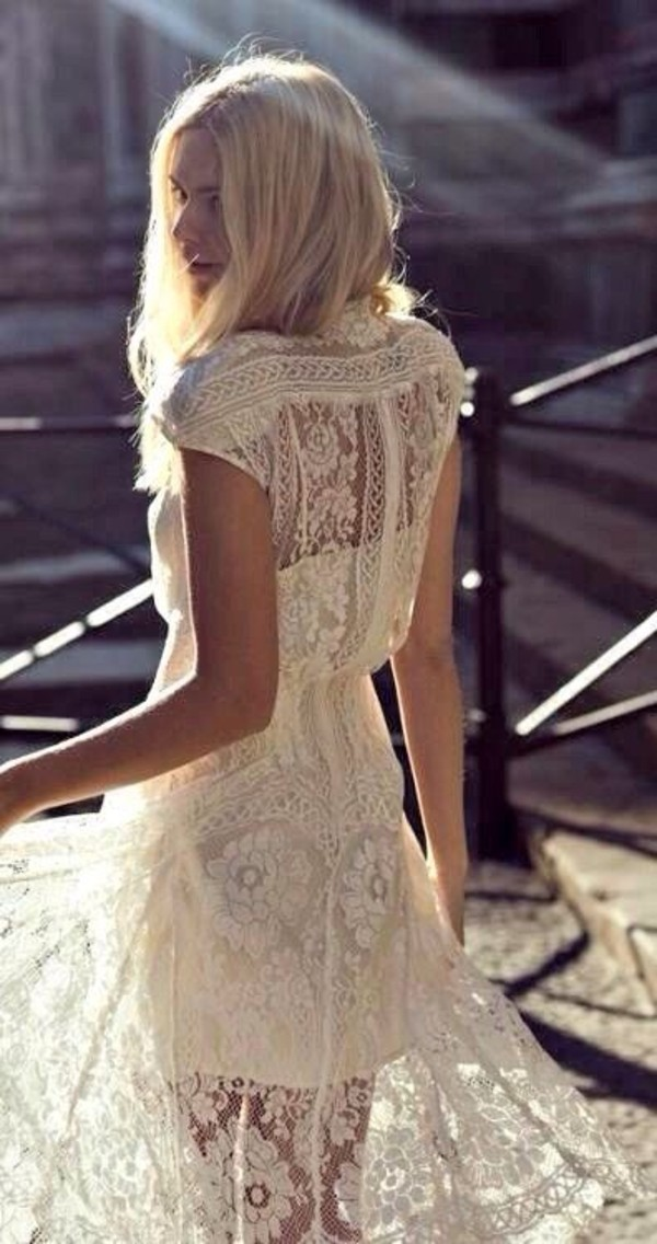 dress lace boho lace wedding dress boho wedding dress hipster wedding
