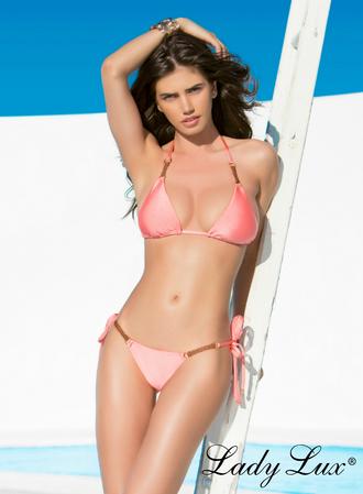 swimwear luxury swimwear bikini coral bikini coral bikini top coral bikini bottom triangle bikini triangle top lady lux designer swimwear