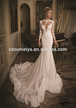 Aliexpress.com : buy ocw36 one shoulder flowing chiffon beach wedding dress from reliable beach wedding dress suppliers on oumeiya wedding dress factory