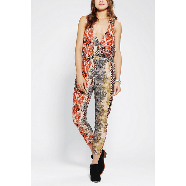 Staring At Stars Tie-Dye Surplice Jumpsuit - Polyvore