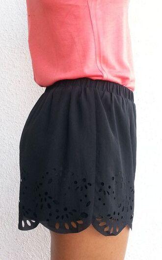 shorts scalloped edges scalloped shorts