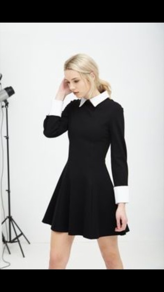 dress black dress wednesday addams cute dress halloween costume cosplay pretty dress!