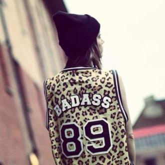 top leopard print badass