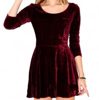 dress red velvet dress velvet red velvet
