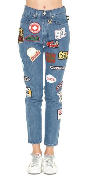 GCDS jeans light blue light blue