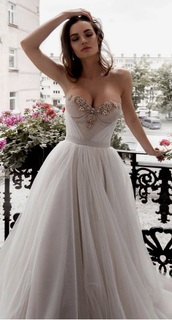 dress,white,grey,wedding dress,prom dress,luxury,beautiful,special occasion dress