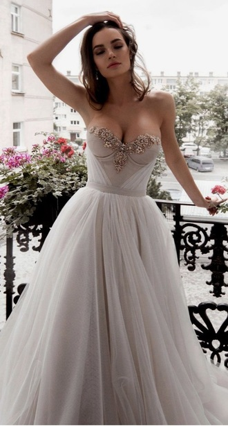 dress white grey wedding dress prom dress luxury beautiful special occasion dress