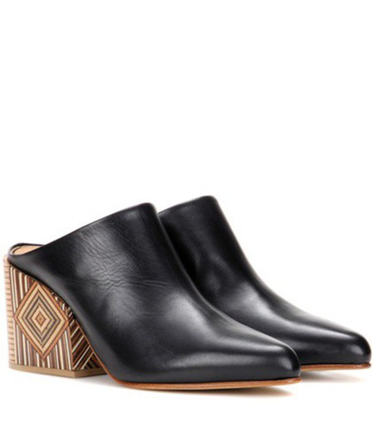 Gabriela Hearst mules leather black shoes