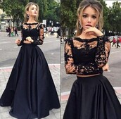 dress,long prom dress,long sleeves prom dress,bateau dress,lace prom dress,black prom dress,black lace dress,black dress,prom,prom dress,black,tulle dress,lace dress,lace,cute,cute dress,two piece dress set,two-piece,maxi dress,maxi,floor length dress,bridesmaid,special occasion dress,love,lovely,pretty,fabulous,gorgeous,beautiful,dark,trendy,girly,vogue,amazing,cool,wow,fashion,style,stylish,royal,satin,satin dress,sexy,sexy dress,sweet