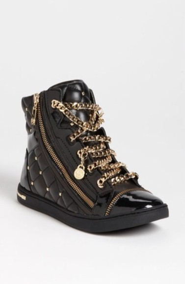 sparkle shoes black guiseppe zanotti gold