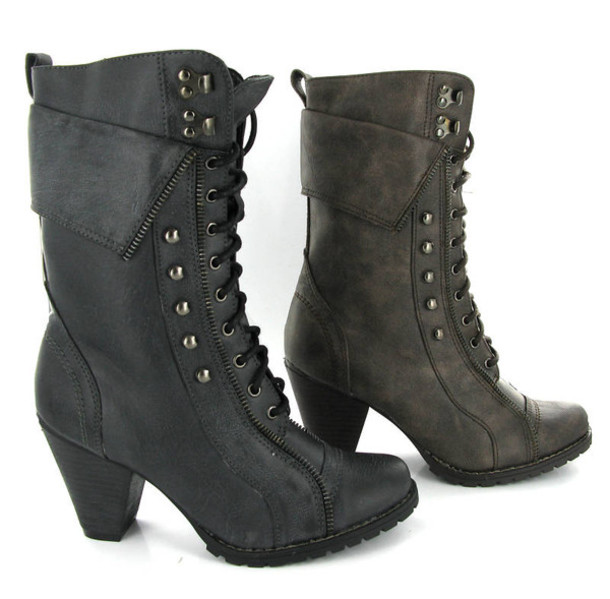 Shoes boots womens military fashion boots combat boots army boots mid