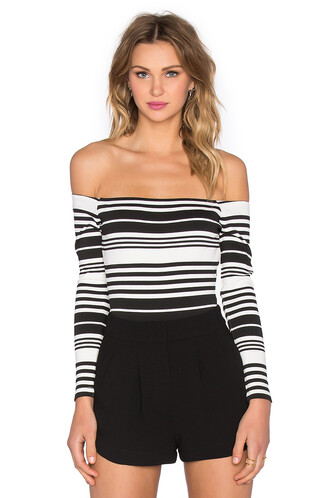 bodysuit white black underwear