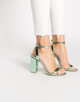 shoes heels style metallic metallic shoes green shoes our favorite accessories 2015