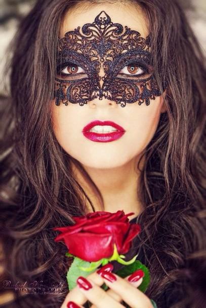 hair accessory make-up black mask masquerade