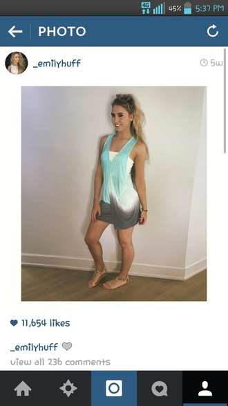 dress teal ombre emily huff love