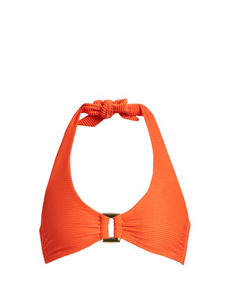 bikini bikini top orange swimwear