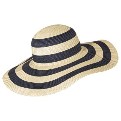 Merona® Striped Floppy Hat - Navy/Tan : Target