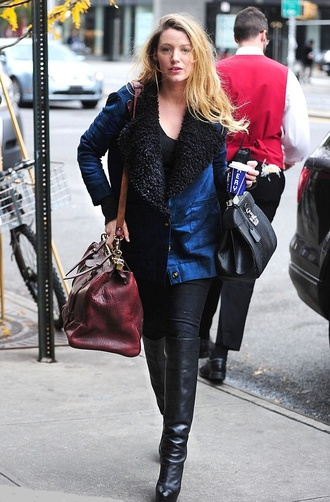 jacket coat bag blake lively fall outfits