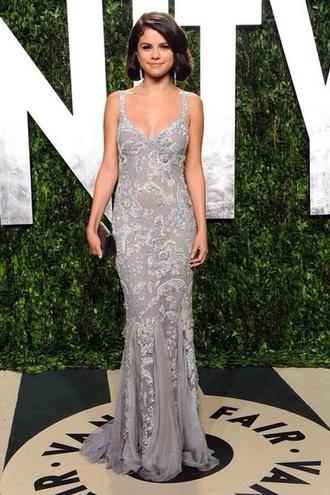 dress selena gomez grey dress