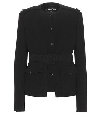 jacket wool jacket wool black