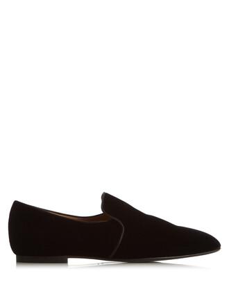 loafers velvet black shoes