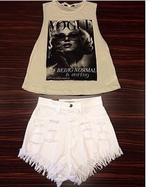 shirt t-shirt shorts
