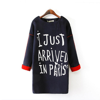 quote on it fashion christmas gift preppy sweater dress paris