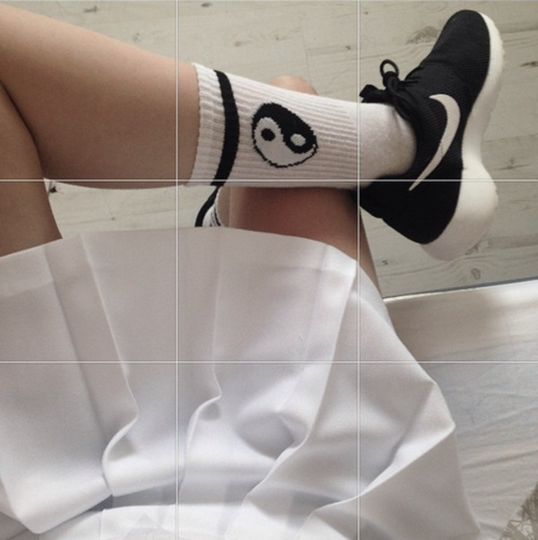 socks clothes clothes yin yang socks black and white